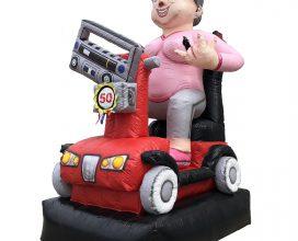 Sarah op scootmobiel