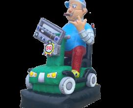 Abraham op scootmobiel