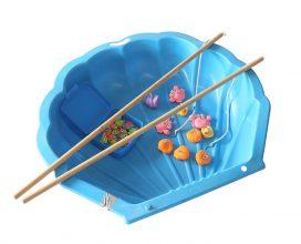 Blauwe waterschelp